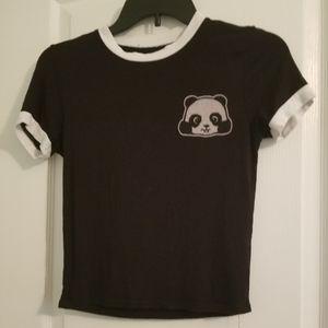 Cute panda cropped top